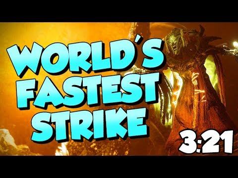 World's FASTEST Strike! 3:21 Strange Terrain Prestige Nightfall [Destiny 2]