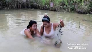Last Fishing Video for Awhile | Catches Crocodile | Beautiful Girl Fishing Amazing Fishing#6