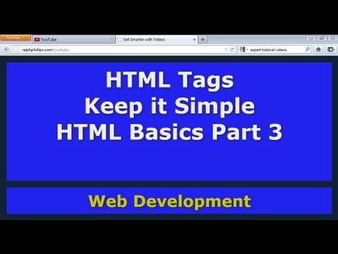 HTML Basics Part 3: Keep It Simple