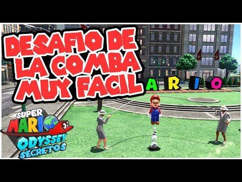Secretos y Trucos Super Mario Odyssey #55 - Como pasar el Desafio de la comba! MUY FACIL