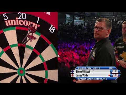 Simon Whitlock v James Wade - QF - European Darts Grand Prix 2018