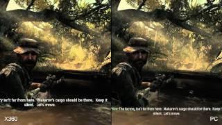 Call of Duty: Modern Warfare 3 Xbox 360 vs PlayStation 3 vs PC Comparison HD