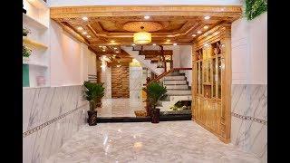 Nhà Bán Gò Vấp. 4 x 18m Căn nhà bán nội thất Toàn Gỗ là Gỗ! Quá đẹp và sang trọng tại Gò Vấp 6.95 tỷ