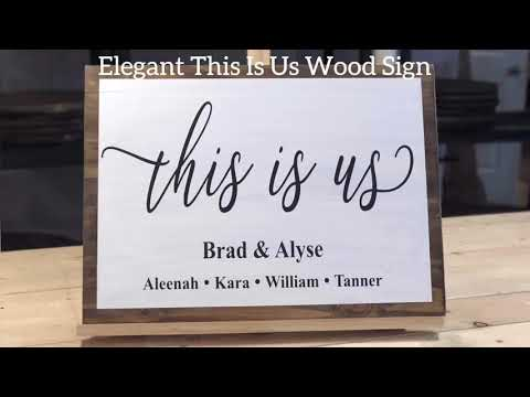 This is Us themed wood sign, DIY, perfect for gifts and blended families!