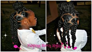 Easy Ponytails With Kinky Twist Hair | Kids Natural Hair