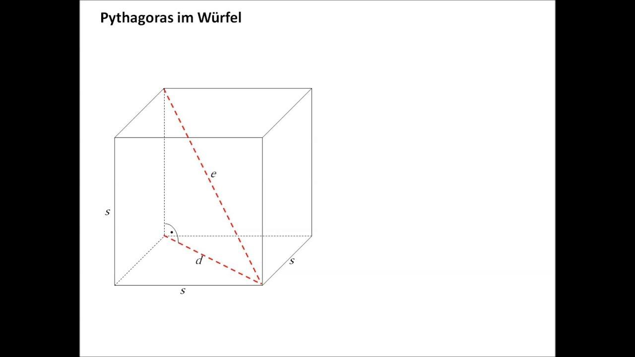 pythagoras im quadrat und im würfel - youtube