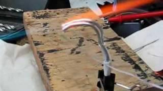 Сварка алюминиевых проводов газовой горелочкой(
