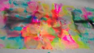 Dyeing fabric with Sharpies and alcohol filmed at the Houston Quilt Market 2010