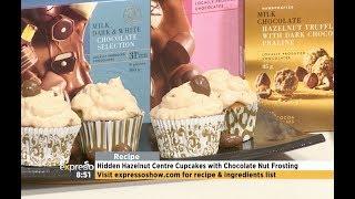 Recipe: Hidden Hazelnut Centre Cupcakes with Chocolate Nut Frosting