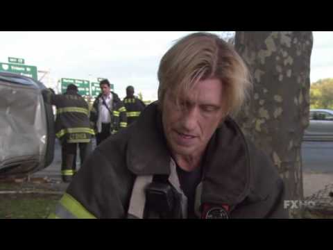 Rescue Me S5E13, Denis Leary, traffic accident