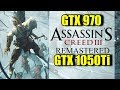 Assassins Creed lll Remastered GTX 1050 Ti & GTX 970 OC | 1080p & 1440p | FRAME-RATE TEST