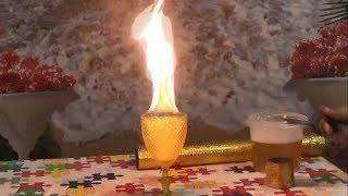 ОГНЕННЫЙ ФАКЕл с помощью огненной трубки BUBBLEFIRE СЕКРЕТЫ ШОУ МЫЛЬНЫХ ПУЗЫРЕЙ