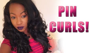 Forever Nu Kinky Perm Straight  Pin Curled