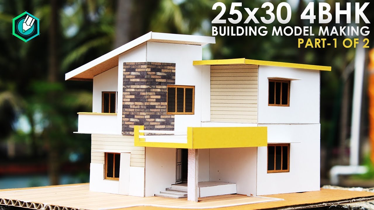 25x30 4bhk  Architecture Model Making  Simple Elevation