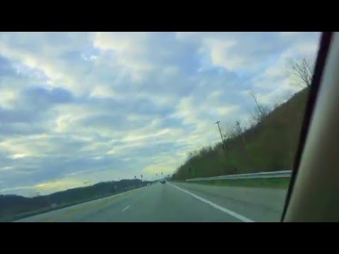 Driving around Newport Kentucky, Northern Kentucky University and Cincinnati Ohio  Hyperlapse