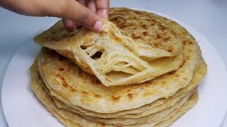 Laccha paratha   Easy way to make layered parotta   multi layered bread