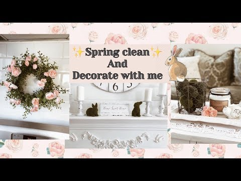 SPRING CLEAN & DECORATE WITH ME 2019 // FARMHOUSE KITCHEN