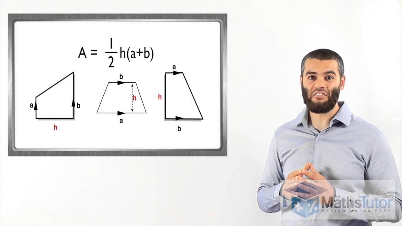 Maths Help Online  Area Of A Trapezium