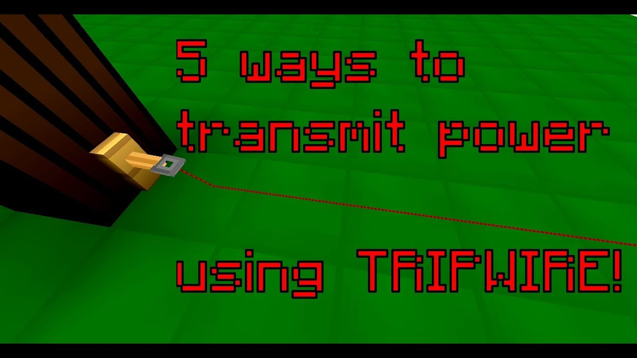 how to make a tripwire in minecraft work