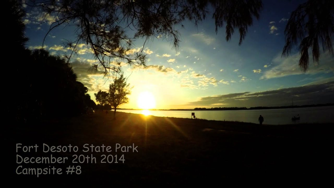 Fort Desoto Campground Cabins - Gopro hero4 time lapse sunset ft desoto state park