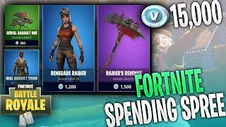"Fortnite Epic ""V-Buck Spending Spree"" Buying Loads of skins in Fortnite battle royale! NEW/OLD skins"