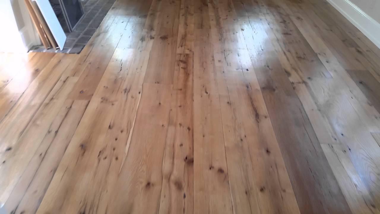 Barbati Hardwood Flooring After 327 Reclaimed Random Width Installation Custom Finish