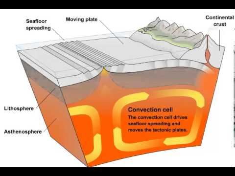 Convection Currents And Tectonic Plate Movement Youtube