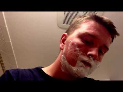 Me shaving my Facial hair off