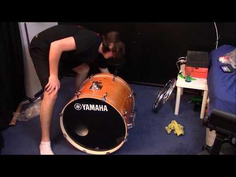 Unboxing and setting up new Yamaha Drum Set