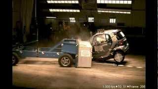 Smart Car Fortwo | 2011 | 35% Overlap Oblique Crash Test | NHTSA | CrashNet1