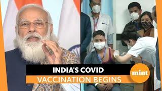 Watch: PM Modi launches vaccine drive against Covid in India