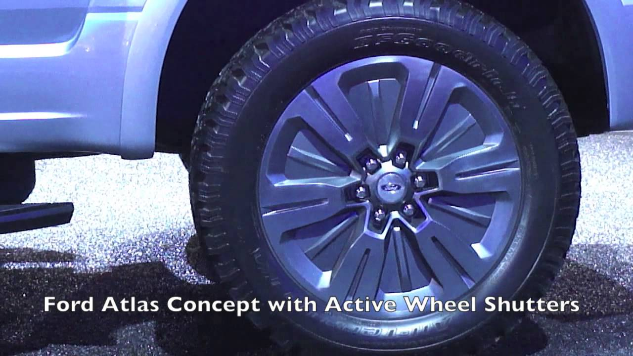 Ford Atlas Concept with Active Wheel Shutters.mov - YouTube