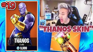 NINJA *REACTS* TO NEW THANOS SKIN & INFINITY GAUNTLET MODE! Fortnite Funny Moments & Fails #19