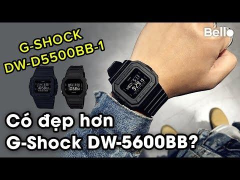 G-Shock DW-D5500BB-1: Có đẹp Hơn G-Shock Bán Chạy DW-5600BB?