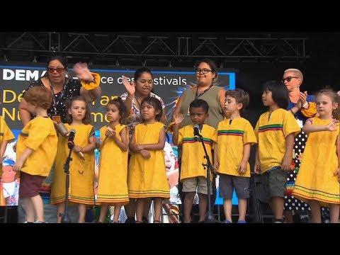 Indigenous daycare teaching kids songs of the ancestors