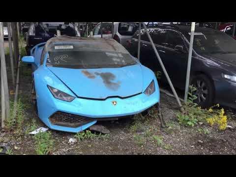 Copart walk around carnage Lamborghini Maserati