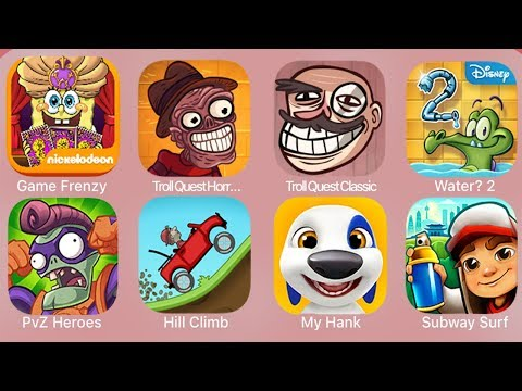 Game Frenzy,Troll Quest Horror 2,Troll Quest Classic,Water 2,PvZ Heroes,Hill Climb,MyHank,SubwaySurf