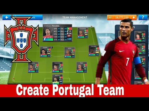 How To Hack Portugal Team In DLS 19 [ Kits Logo & Players]