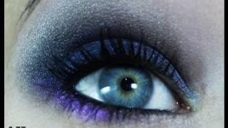 Maquillaje azul Navidad (especial ojos marrones)
