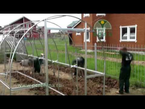 видео: сборка теплицы Дачная-двушка (ускоренная)