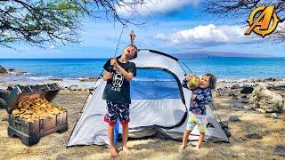 Beach Camping, Fishing aฑd Aloha Treasure Hunting in Hawaii!