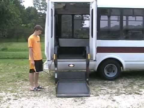 2001 chevy shuttle bus on ebay wheelchair lift youtube