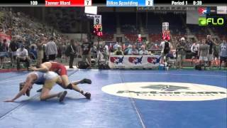 Cadet 100 - Tanner Ward (Oklahoma) vs. Dillon Spaulding (North Dakota)