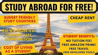 Best Countries to Study Abroad for FREE | Budget Friendly Destinations to Study Abroad | Europe