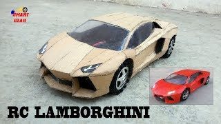 WOW! Super RC Lamborghini  || DIY || Cardboard Lamborghini Aventador || How to make Electric Toy Car