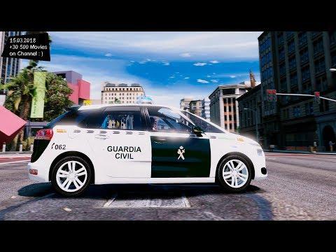 Citroën C4 Picasso 2014 Guardia civil Isae Arcus Grand Theft Auto V MGVA Modification