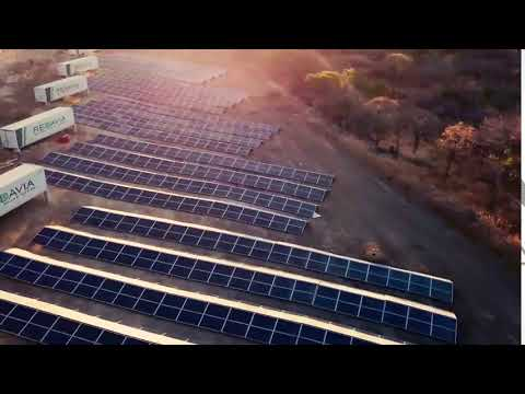REDAVIA Rental Solar Power | Shanta Gold Solar Farm Drone Footage