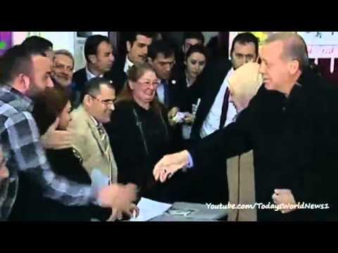 Hectic scenes as PM Erdogan votes in Turkey poll