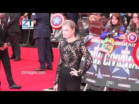Emily VanCamp at the film premiere Captain America: Civil War in London, UK