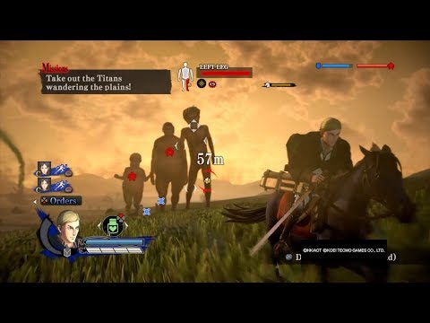 Attack on Titan Wings of Freedom Erwin Smith(with cape)99+Perfected Gear Gameplay